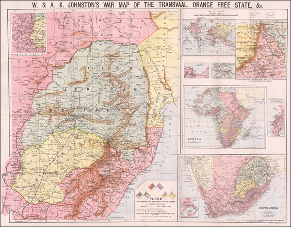 South Africa Map By W. & A.K. Johnston