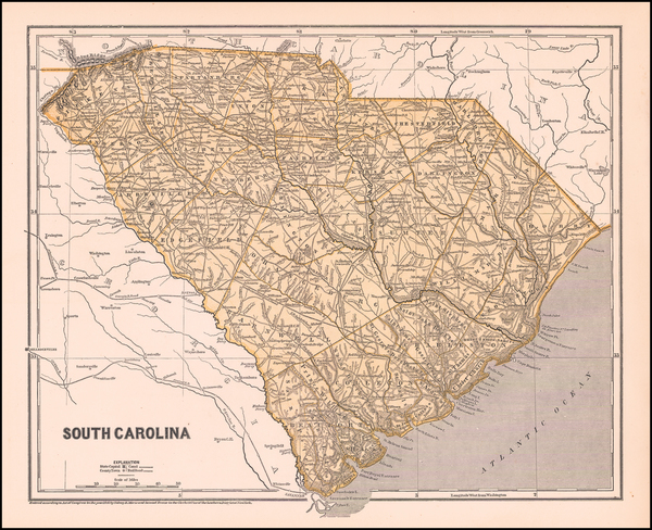 74-South Carolina Map By Sidney Morse  &  Samuel Breese