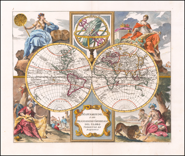20-World Map By Giambattista Albrizzi
