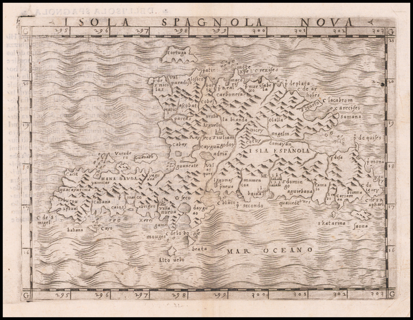 2-Hispaniola Map By Giacomo Gastaldi