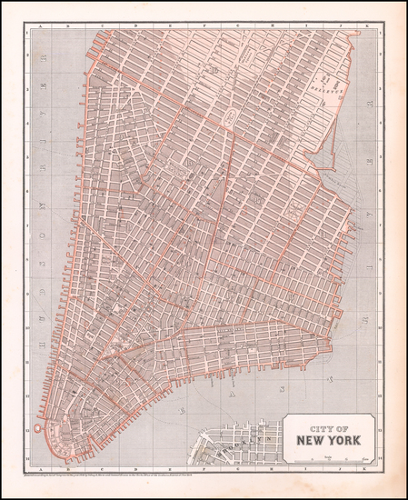 24-New York City Map By Sidney Morse  &  Samuel Breese