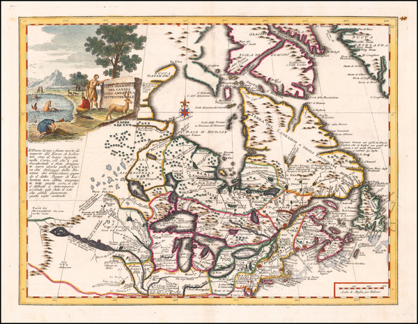 67-Midwest, Canada and Eastern Canada Map By Giambattista Albrizzi