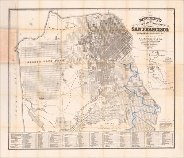 32-San Francisco Map By A.L. Bancroft & Co.