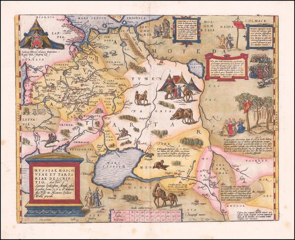 52-Russia, Ukraine, Central Asia & Caucasus and Russia in Asia Map By Abraham Ortelius