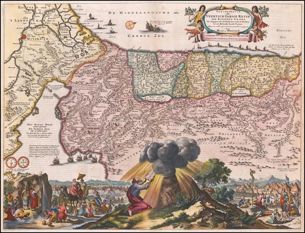 27-Holy Land Map By Marcus Willemsz Doornick  &  Pieter Keur