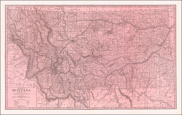 Montana Map By Montana Railroad Commission