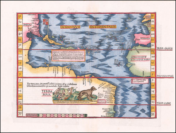 97-Atlantic Ocean, North America, South America and America Map By Lorenz Fries