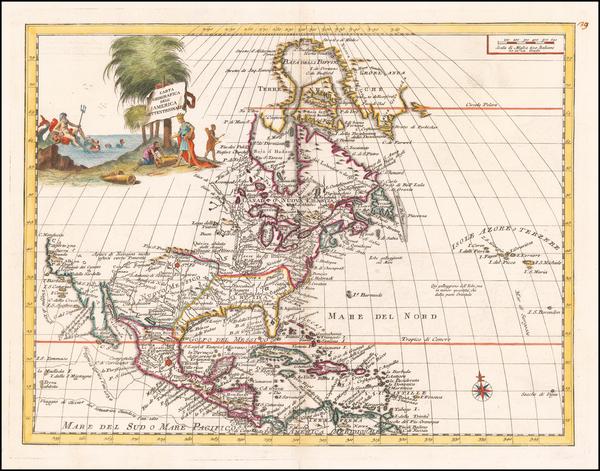 4-North America Map By Giambattista Albrizzi