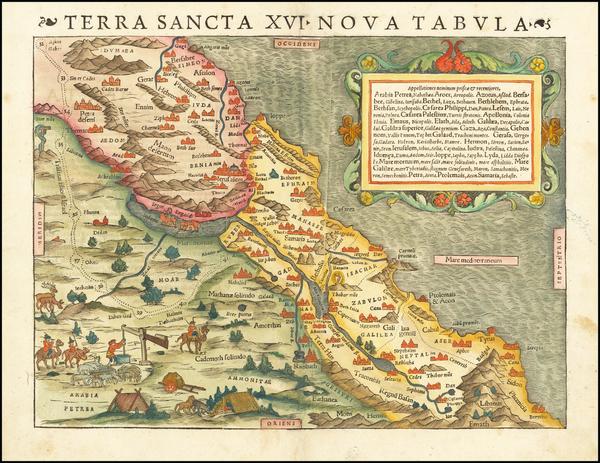 40-Holy Land Map By Sebastian Munster