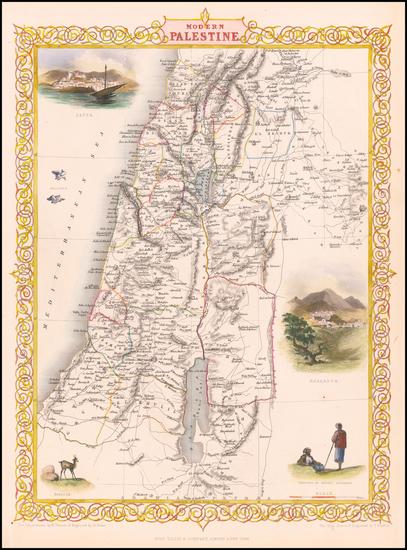19-Holy Land Map By John Tallis