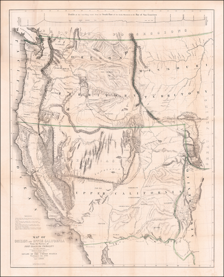 0-Southwest, Colorado, Utah, Nevada, Rocky Mountains, Oregon, Washington and California Map By Jo