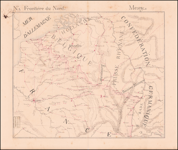 Map Of France And Luxembourg.Antique Maps Of Luxembourg Barry Lawrence Ruderman Antique Maps Inc