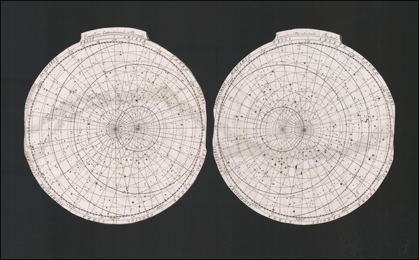 1-Celestial Maps Map By Vincenzo Maria Coronelli