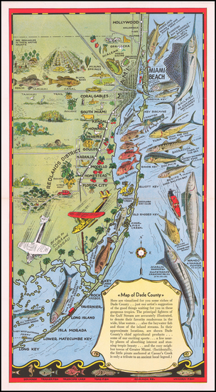 Florida and Pictorial Maps Map By Ziesler