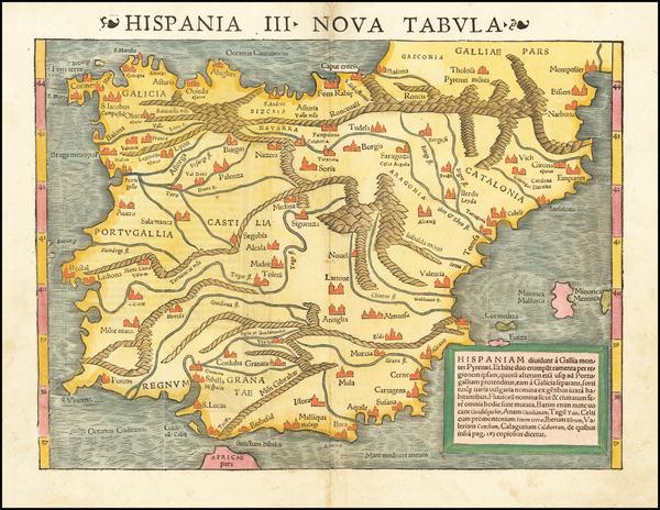 89-Spain Map By Sebastian Munster