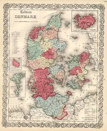 18-Scandinavia Map By Joseph Hutchins Colton