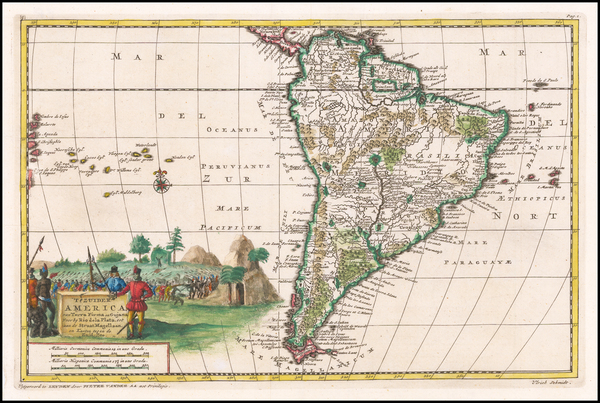 79-South America Map By Pieter van der Aa