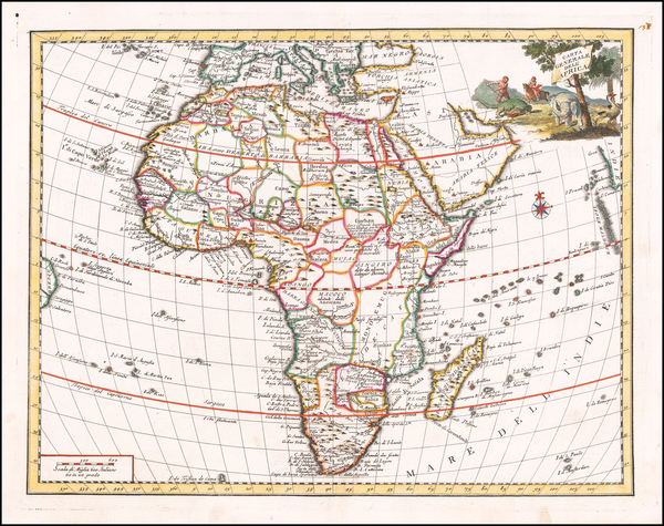 45-Africa Map By Giambattista Albrizzi