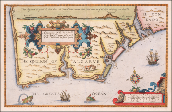 Spain and Portugal Map By Lucas Janszoon Waghenaer