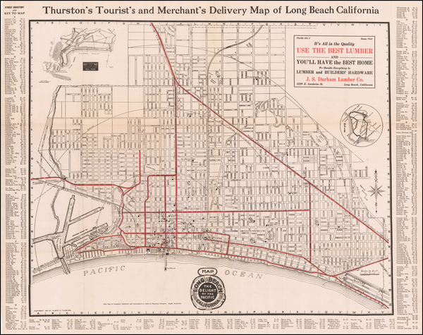 81-Other California Cities Map By Albert G. Thurston