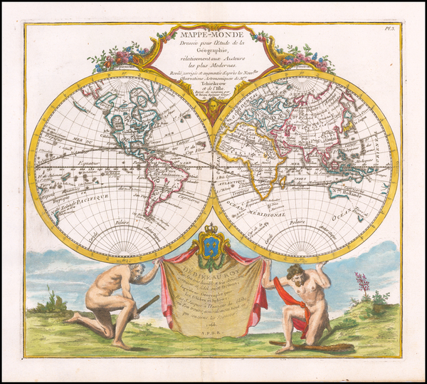 76-World Map By Louis Brion de la Tour
