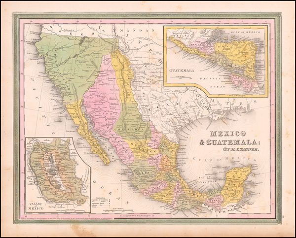 20-Texas, Southwest, Mexico and California Map By Henry Schenk Tanner