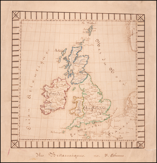 87-British Isles Map By Anonymous