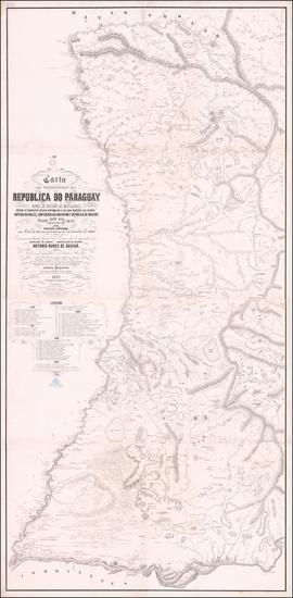 10-Paraguay & Bolivia Map By Lithographia do Archivo Militar