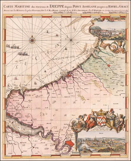 55-France Map By Romeyn De Hooghe