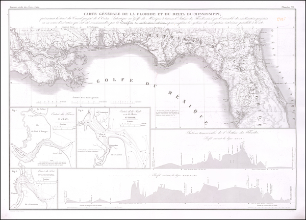 51-Florida and South Map By Guillaume-Tell Poussin