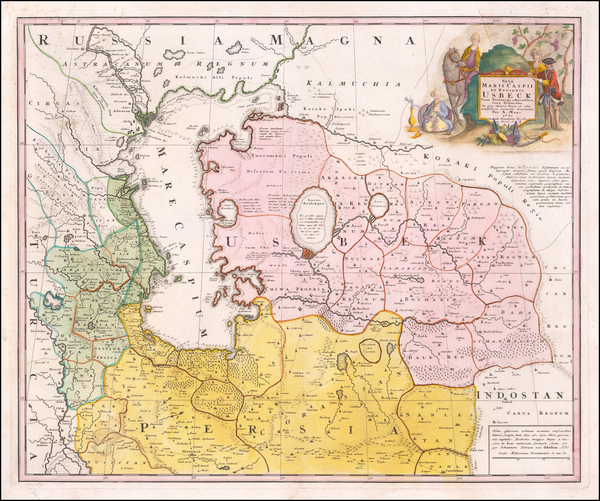 13-Russia, Ukraine and Central Asia & Caucasus Map By A Maas