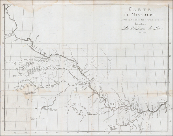 58-Plains and Missouri Map By Francois Perrin du Lac