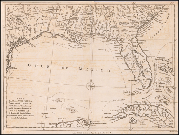 52-Florida, South, Southeast and American Revolution Map By John Lodge