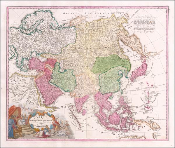 86-Asia Map By Johann Baptist Homann