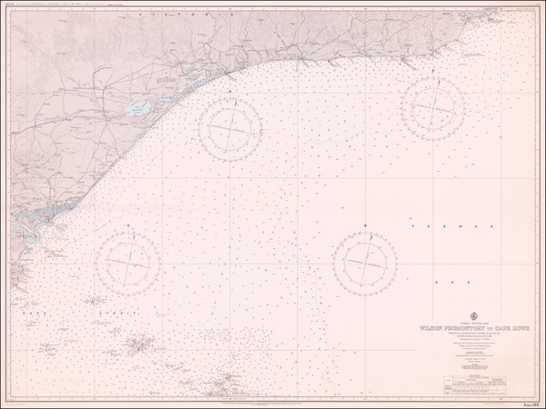 66-Australia Map By Royal Australian Navy Hydrographic Office