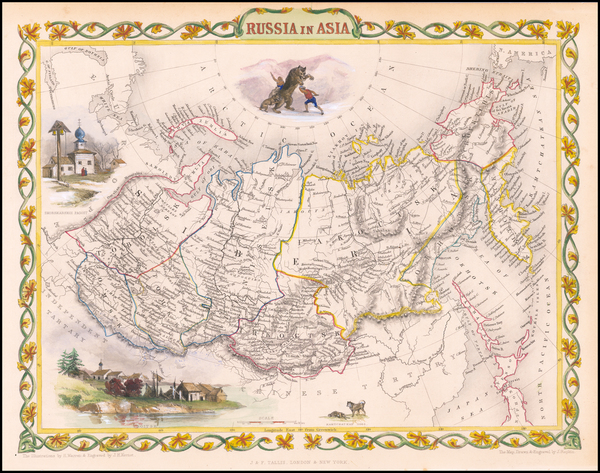 5-Polar Maps, Central Asia & Caucasus and Russia in Asia Map By John Tallis