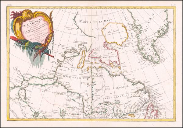 55-Canada Map By Rigobert Bonne