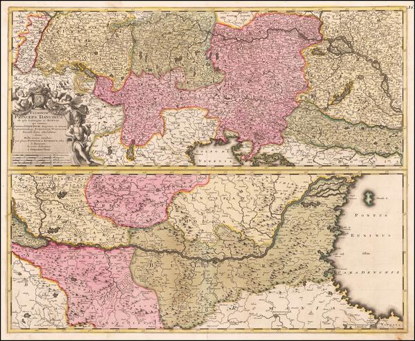 64-Germany, Austria, Hungary, Romania and Serbia Map By Gerard Valk