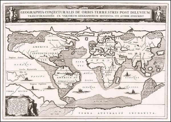 52-World Map By Athanasius Kircher