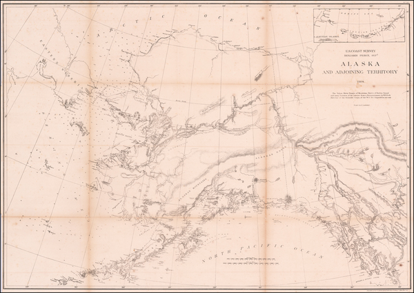 50-Alaska Map By United States Coast Survey / Henry Lindenkohl