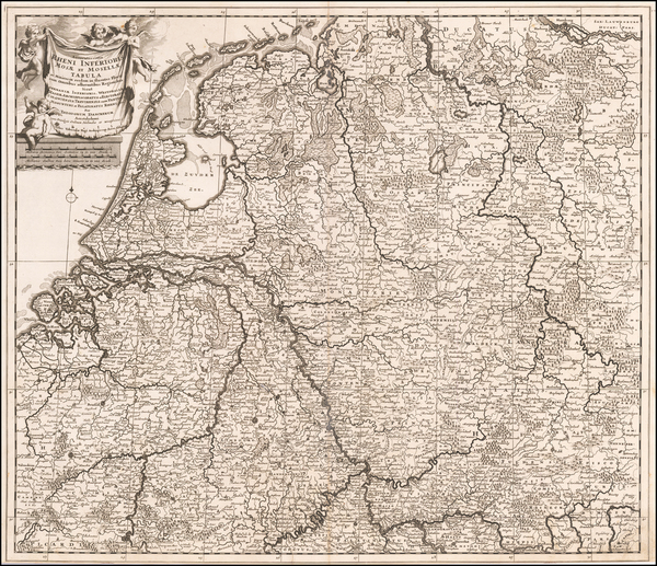 13-Netherlands, Belgium and Germany Map By Theodorus I Danckerts