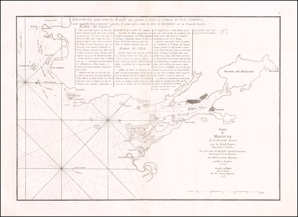 67-Eastern Canada Map By George Louis Le Rouge