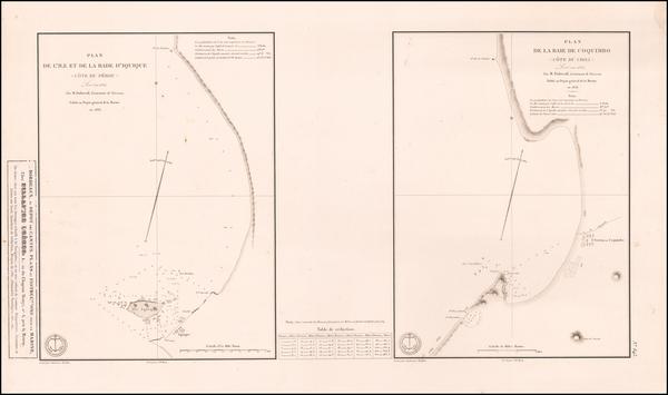 54-Chile and Peru & Ecuador Map By Depot de la Marine