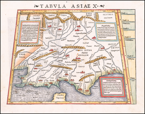35-India and Central Asia & Caucasus Map By Sebastian Munster