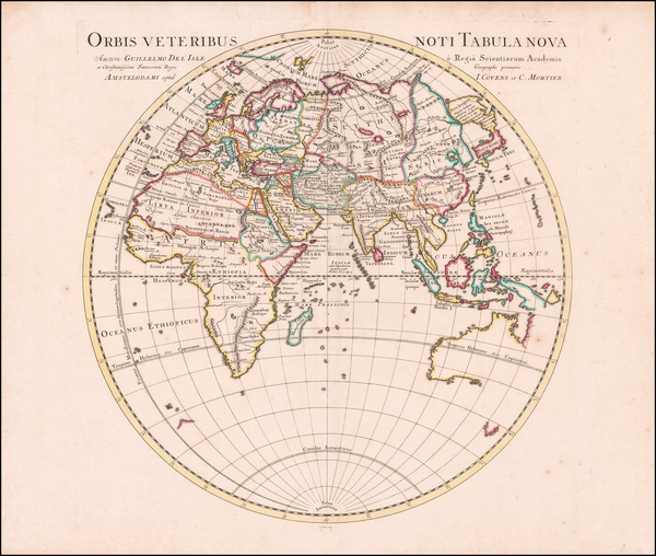 32-World, Eastern Hemisphere, Australia & Oceania and Australia Map By Johannes Covens  &