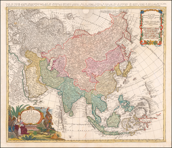 81-Asia Map By Homann Heirs / Johann Matthaus Haas
