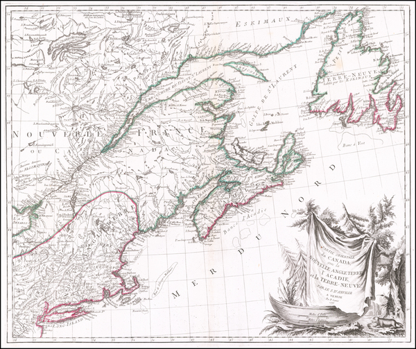 71-New England and Canada Map By Paolo Santini