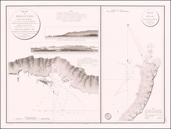 27-Peru & Ecuador Map By Depot de la Marine