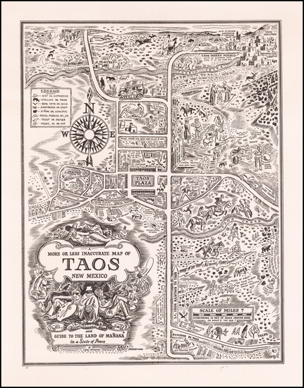 New Mexico and Pictorial Maps Map By Ward Lockwood