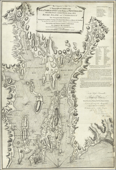13-New England and Rhode Island Map By William Faden